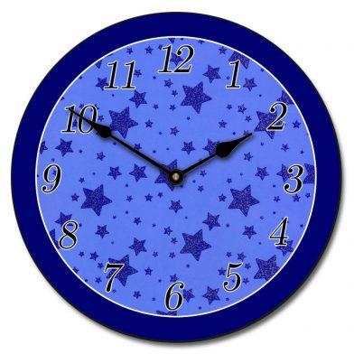 Blue Star Clock
