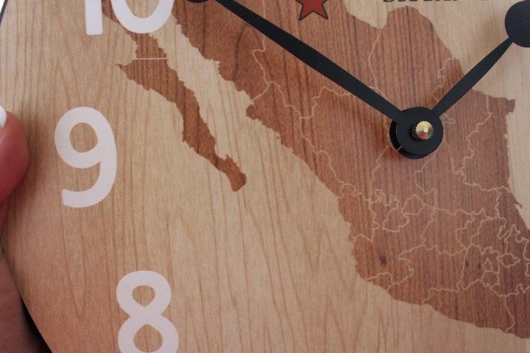mission clock  close up