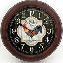 Blue Rooster Inn Clock brn frm