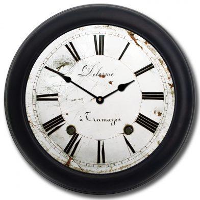 Delorme Clock blk frm