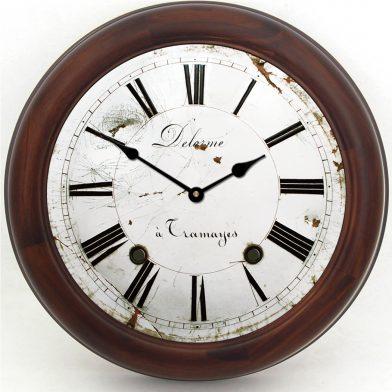 Delorme Clock brn frm
