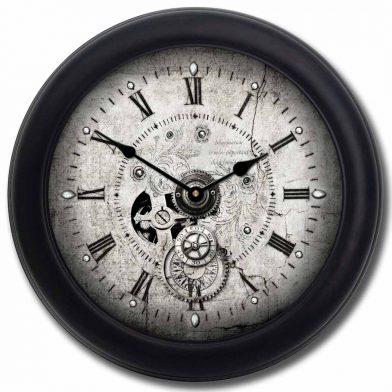Steampunk Clock blk frm