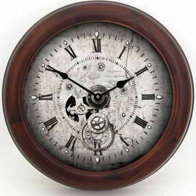 Steampunk Clock brn frm