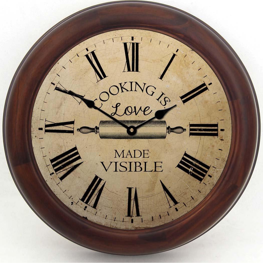 Vintage Kitchen Wall Clock Round Clocks For Walls