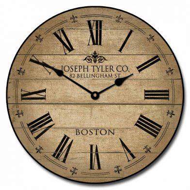 Barnwood Tan Clock
