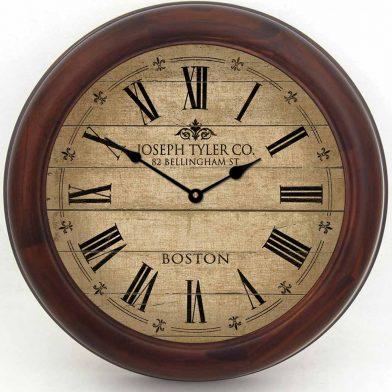 Barnwood Tan Clock brn frm