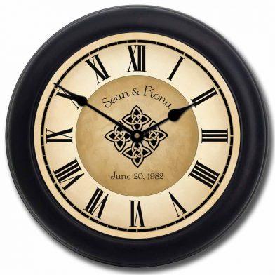 Irish Wedding Clock blk frm