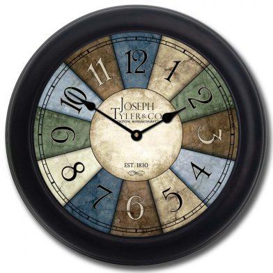 Le Belle Bleue Clock blk frm