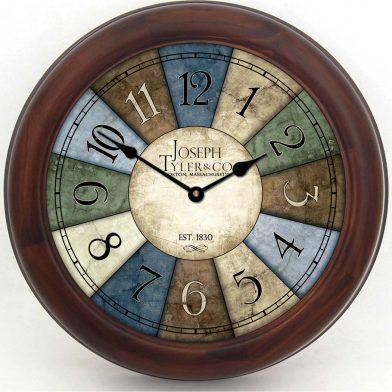 Le Belle Bleue Clock brn frm