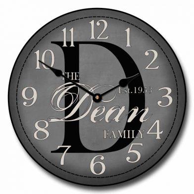 Monogram  Clock