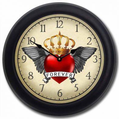 Rockabilly Clock 2 blk frm