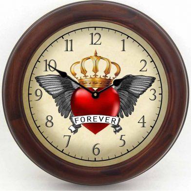 Rockabilly Clock 2 brn frm