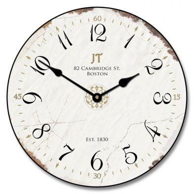 Vintage White Clock
