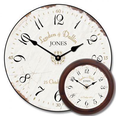 Vintage White Wedding Clock mix