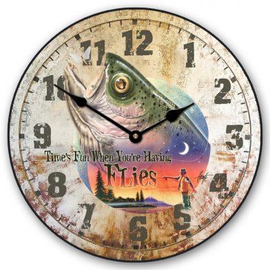Bass Time Flies Clock