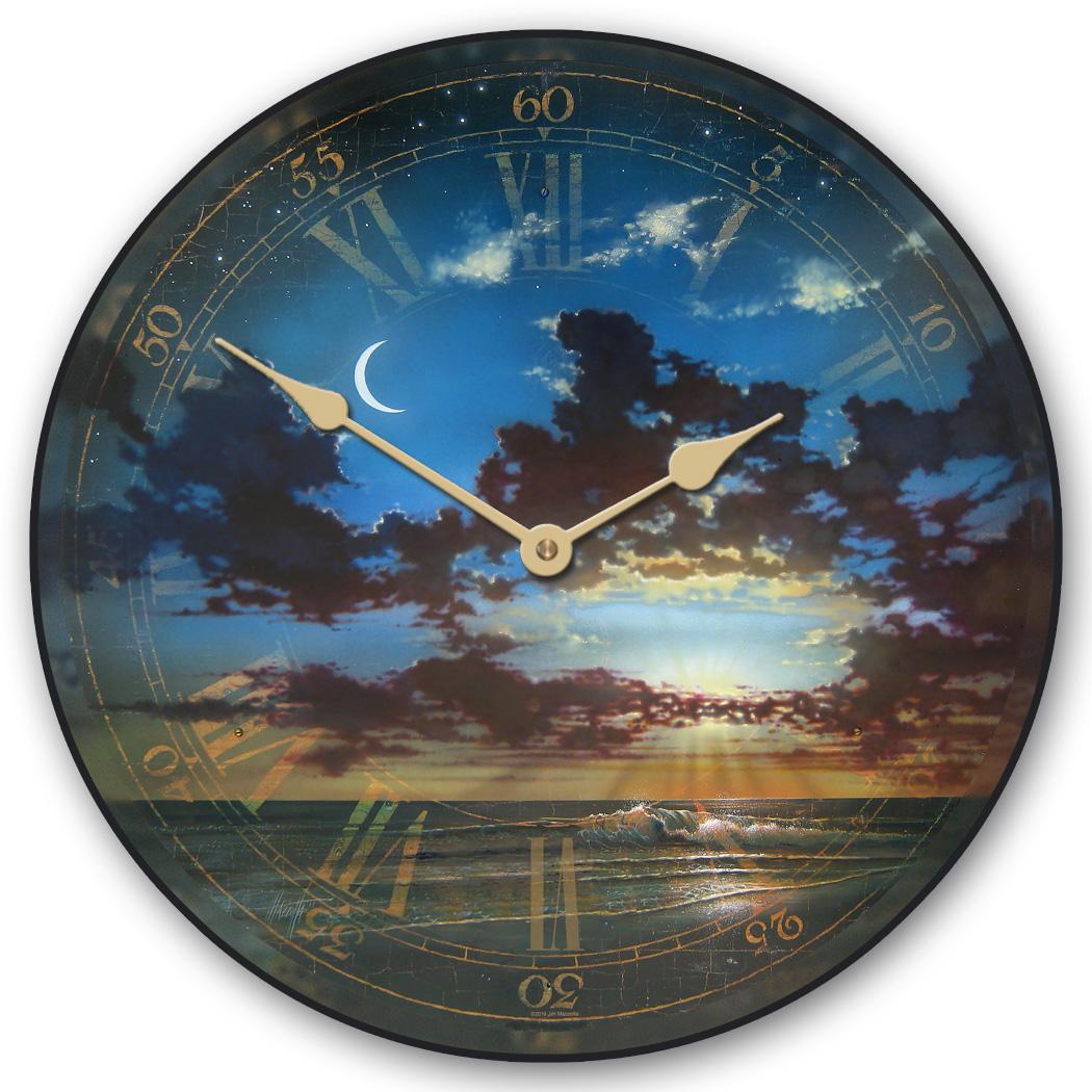 Golden Crescent Moon Clock The Big Clock Store