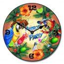Parrot Party Clock
