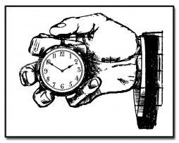 Vintage Ad Pocketwatch Clock