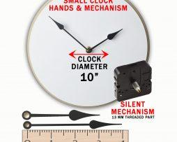 Clock mechanism and hands