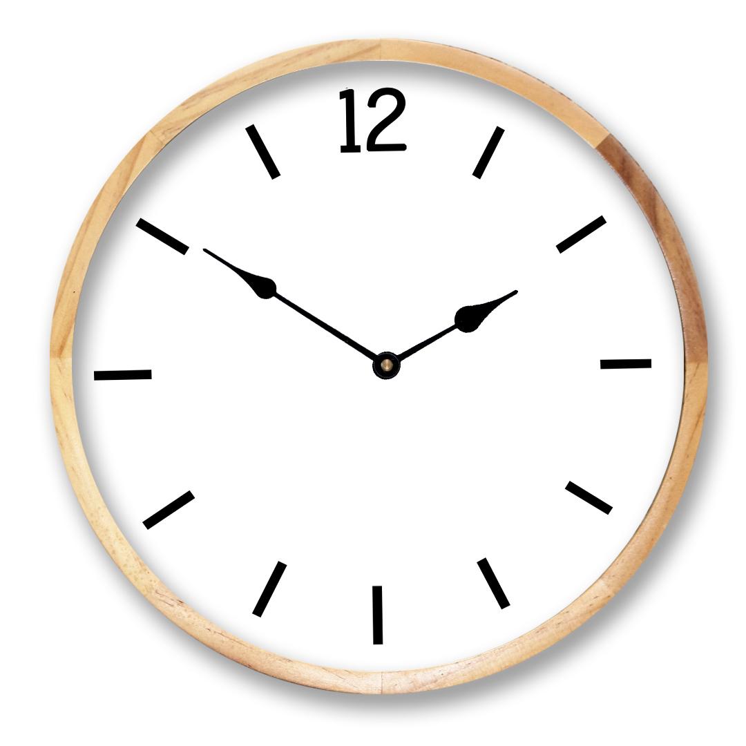 Birch Framed Clock