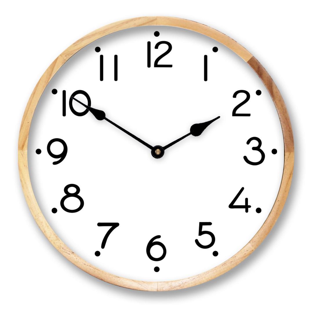 white design clock