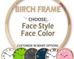 birch clock