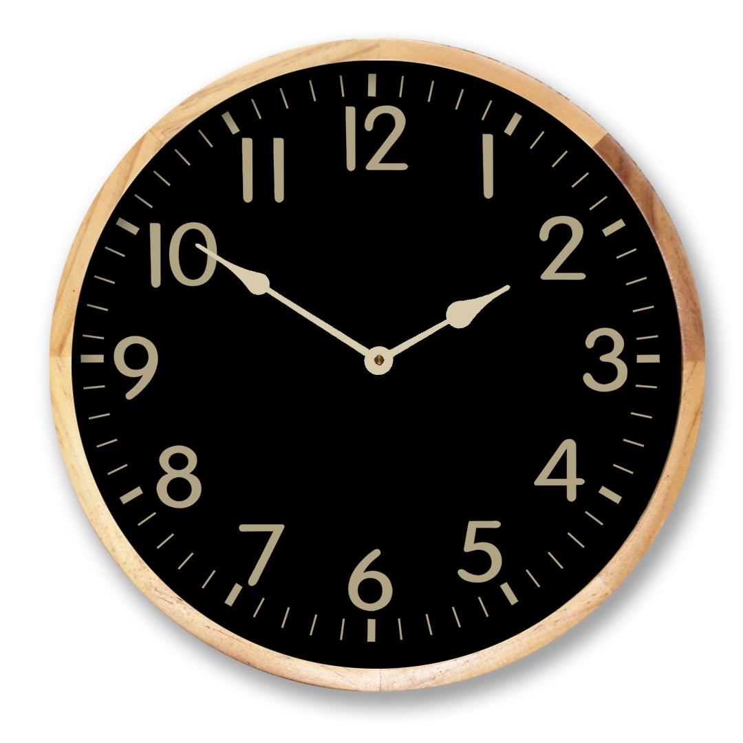 black background Clock