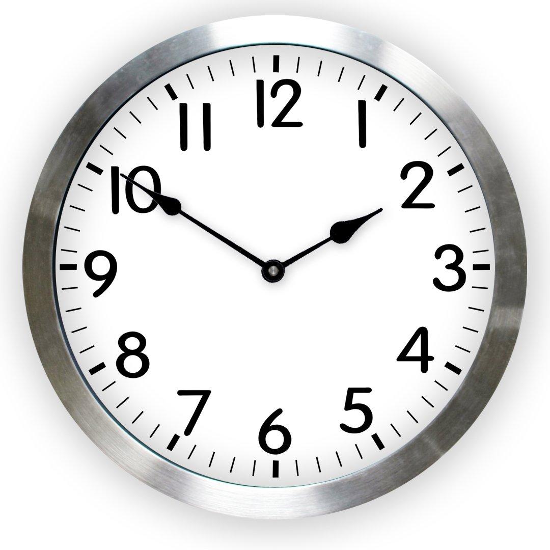 Metal Framed Clock