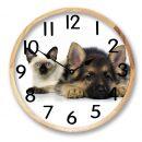 pet clock dog and cat