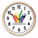 Face 3, Birch Frame, Logo Clock