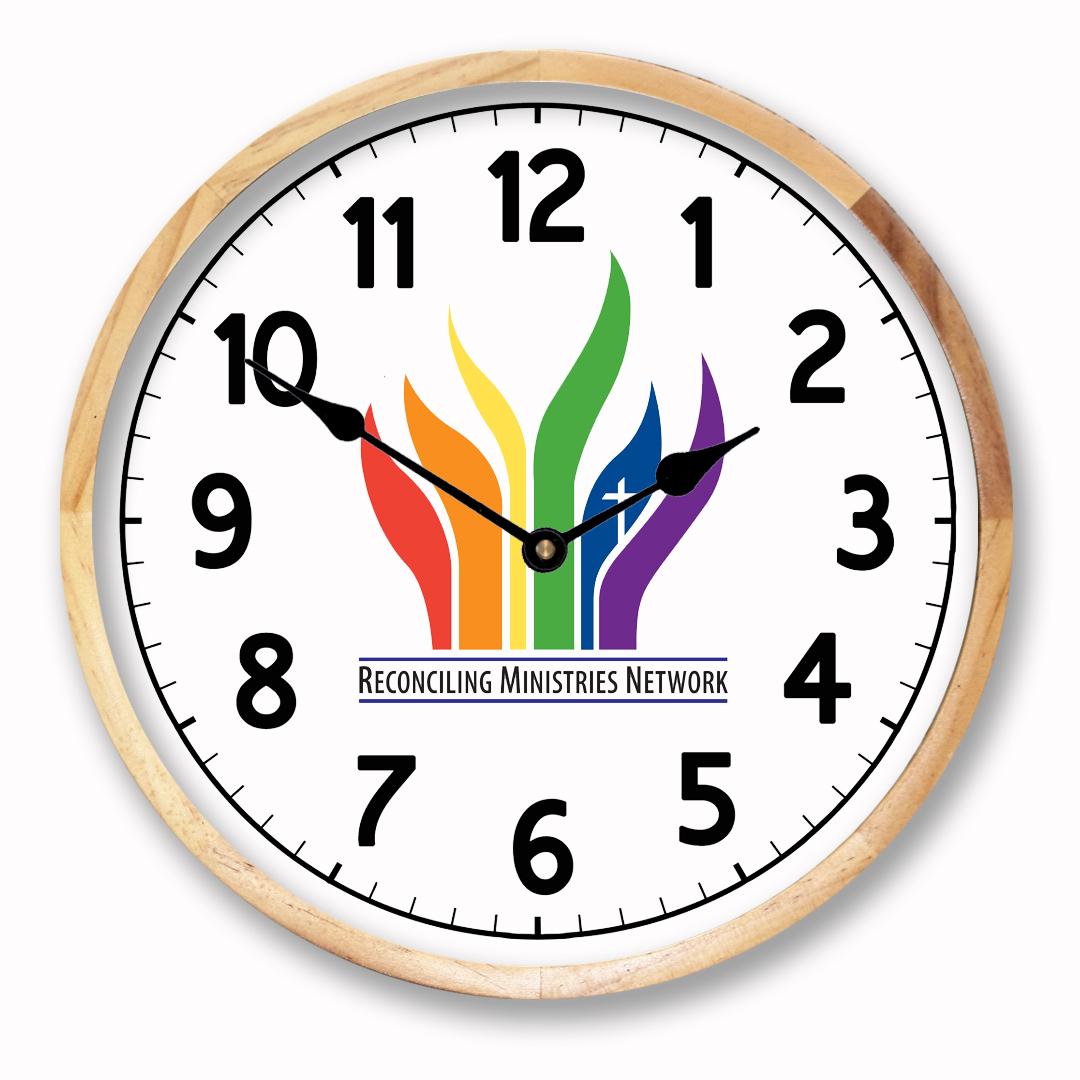 Logo clocks custom logo wall clocks the big clock store birch frame logo clock amipublicfo Choice Image