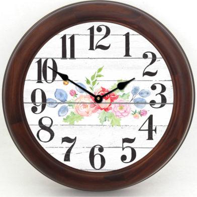 Barnwood Floral Clock brn frm