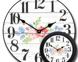 Barnwood Floral Clock mix