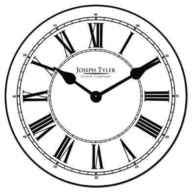 Classy White Clock1