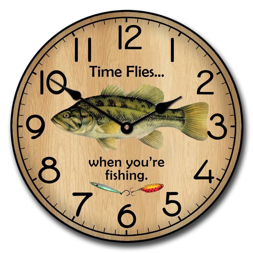 Fishing Clocks | Fisher Wall Clock | The Big Clock Store