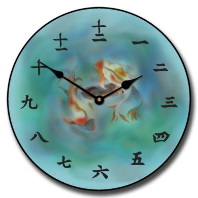 Japanese Koi Clock