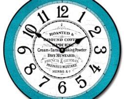 Kitchen Pantry Teal Clock