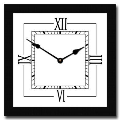 Modern Roman Square Clock