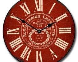 Vintage Galeries Red Clock