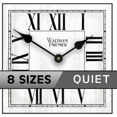 Waltham White Square ROMAN 8 sizes
