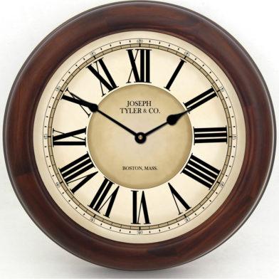 Waterford Clock brn frm