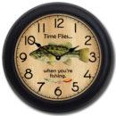 fishing clock 2 blk frm