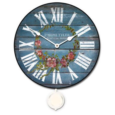 barnwood blue floral pendulum
