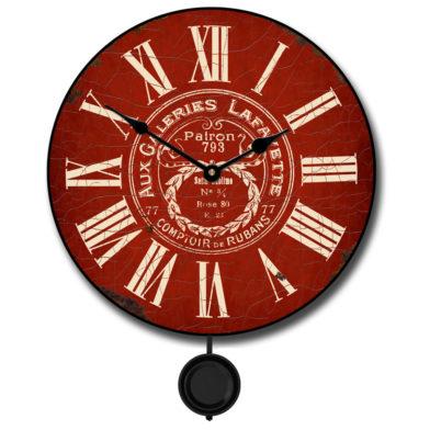 vintage galeries red Pendulum