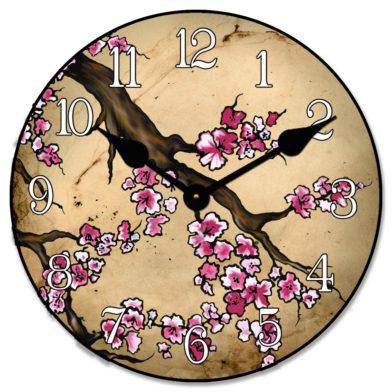 Cherry Blossom Tan Clock1