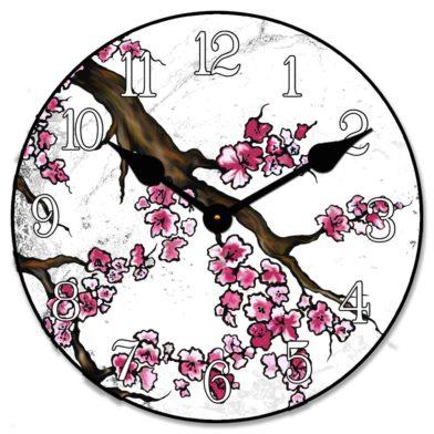 Cherry Blossom White Clock1