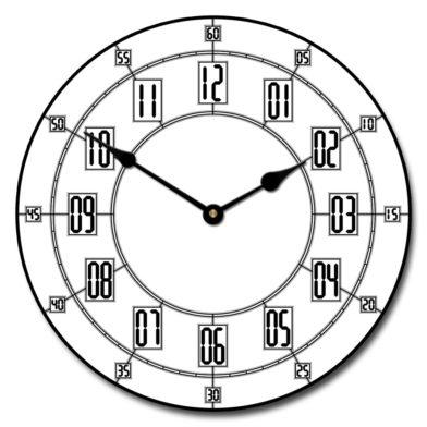 Alton White Clock