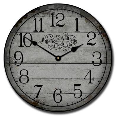 American Waltham Gray Clock