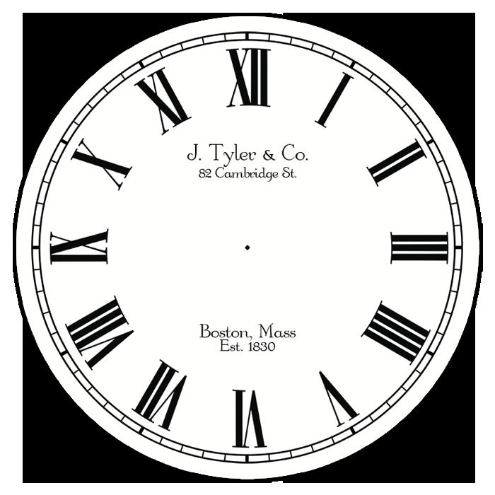 Black Tie Affair Clock Choose Your Size The Big Clock Store