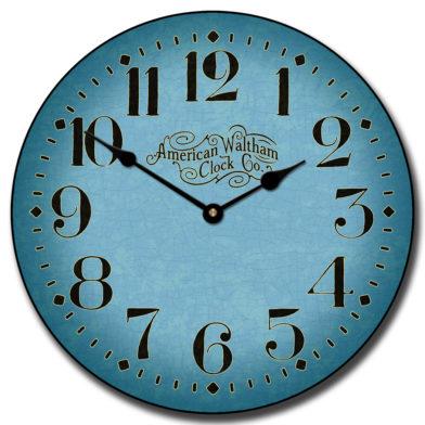 Houston Blue Clock